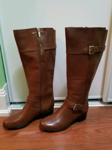 Brand New Nine West Genuine Leather Boots. Size 5