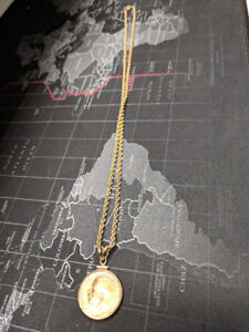 1911 Gold Sovereign George V made into gold Necklace