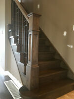 Stair Capping - Wrought Iron - Refinish - Hardwood Installations