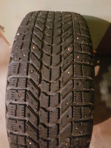 205/55R16 Fierstone Winterforce M+S Studded tires on Rims