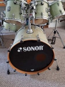 2006 Sonor s Class  6 pice drum set German Madr