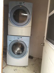 Whirlpool white Front load Washer and dryer sale