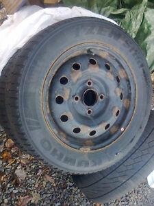 205/60/15 tires on 4@4.5 rims (Kia, old hyundai, mitsubishi) Peterborough Peterborough Area image 1