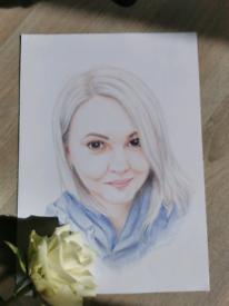 Commission portrait drawing