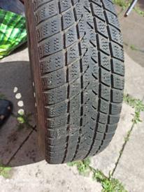 Hankook 185/65/15 winter tyre on a steel rim