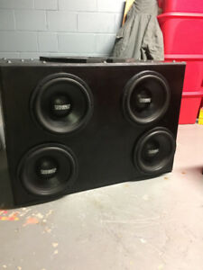 "4 x 12"" Sundown Sa12 rev3 and custom box"