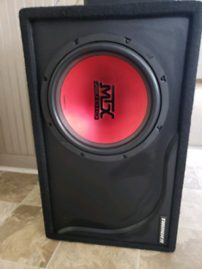 12 MTX in a thunder ported box and pioneer class D mono GMD7400M