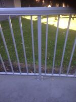 Grey aluminium deck railing