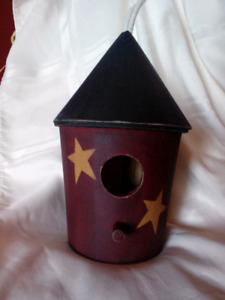 Primative hand painted bird houses