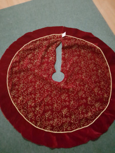 Red Velour tree skirt.