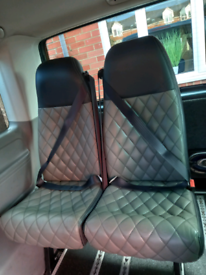 Rear Seats with seat belts crew bus day van Camper
