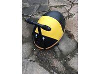 Bumble bee child's wheelie ride on