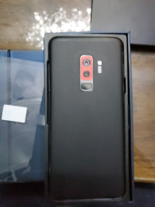 GALAXY S9 PLUS BLACK 64GB + UNLOCKED + EXTRAS + RECEIPT