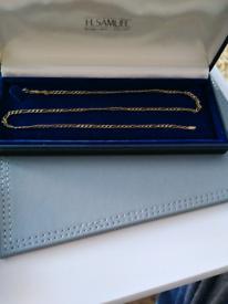 "Ladies 20"" 9ct gold Figaro chain"
