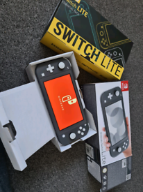 Nintendo switch lite an case set with extras