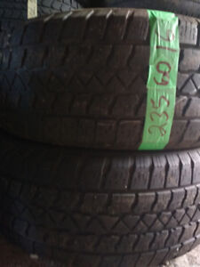Two 235 60 16 winter tires.