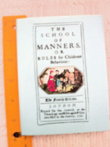 """""""The School Of Manners Or Rules For Children's Behaviour"""""""