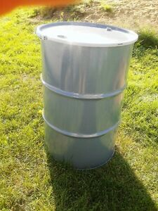 45 gallon steel drum w/ removeable lid