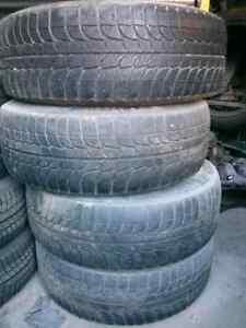 Set of 4 Michelin 245/70R16 tires on rims Windsor Region Ontario image 1
