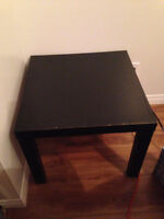 Ikea side table and small TV stand
