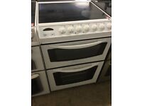 Electrolux white Electric Cooker , Double Oven, Ceramic Top, 60cm Wide,