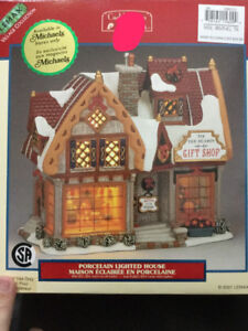 Assorted Christmas Village Buildings
