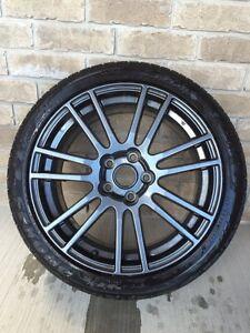 Hyper black STI wheels 18 inch 5x114