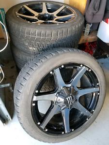 "22"" Monster Rims - Dropstar rims and Bridgestone Blizzac tires"