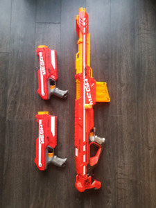Nerf Mega Guns x3 for Sale