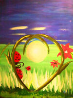 join us w friends and family for mother's day theme paint night