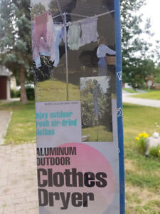 Aluminum outdoor clothes dryer - Never taken out of box