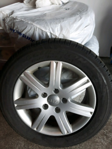 Set of Audi Winter Rims and Scorpion Winter Tires.