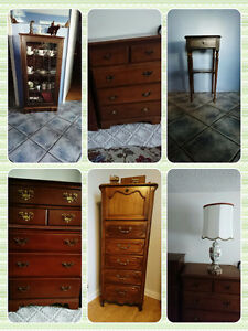 Vintage and walnut furniture and patio furniture