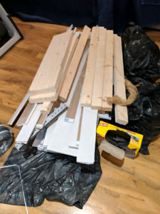 Bunch of wood 2x4  and 1x8