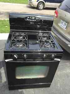 "Nice 30"" Black Maytag Gas Stove Oven Range Only 2 yrs"