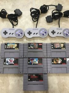 Super Nintendo Games and Controllers