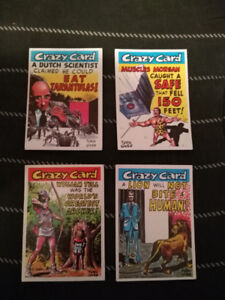1960's Topps Set of 4 Crazy Cards