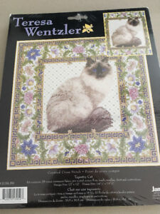 Tapestry cat cross stitch de Teresa Wentzler/ Petit point Chat