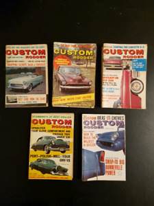 Vintage Custom Rodder Mini Magazines from 1950 and 1960