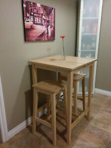 Ikea High Table with 2 benches