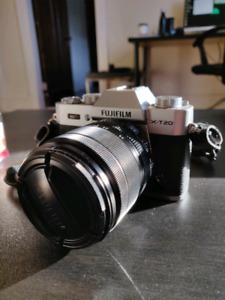 Fujifilm X-T20 Mirrorless Camera w/ 18-55mm Zoom, 23mm f2 Prime,