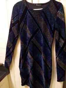 Dress Black Navy Silver,Glitter Spandex/polyester