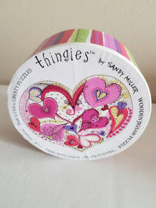 """Thingies """"Hearts in the City"""" Wooden Jigsaw Puzzle"""