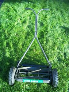 Very Good Condition Weed Eater 15-Inch Push Reel Lawn Mower