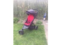 Phil & Ted Dot Single Pushchair With Brand New Raincover
