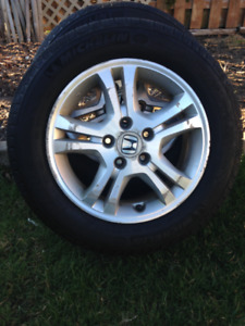 Two Honda Accord Aluminium Rims 16 inch with Michelin Tires