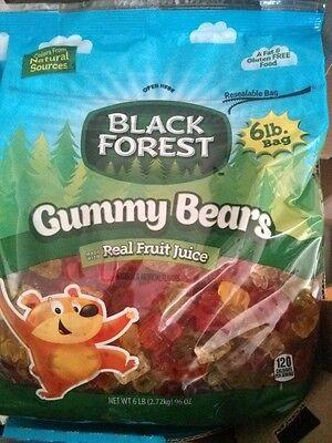 Gummy Bears 96oz ( 6 lbs ) Bag,Black Forest,5 Fantastic Flavors,Gummi Candy bear