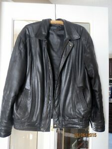 1 Men's Leather Jacket and 1 Black Kilt Jacket