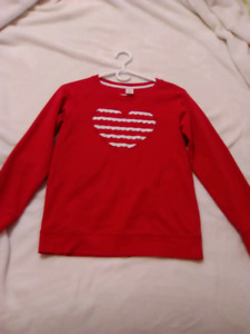 Gymboree Red Sweater With Heart, Size Large for kids.
