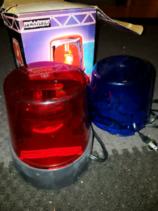 Rotating Police Beacon Light  ☆EUC☆